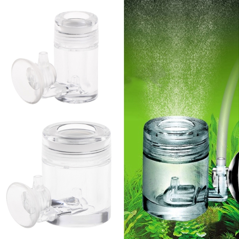 Diffuseur de CO2 avec compteur à bulles Aquarium acrylique Aquarium plante aquatique 2 tailles-M15