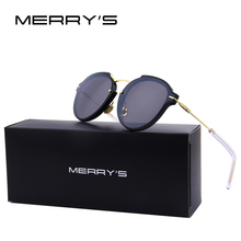 MERRY'S Fashion Sunglasses Women Brand Designer Single-bridge Cat eye Women Sun Glasses Oculos De Sol S'8079
