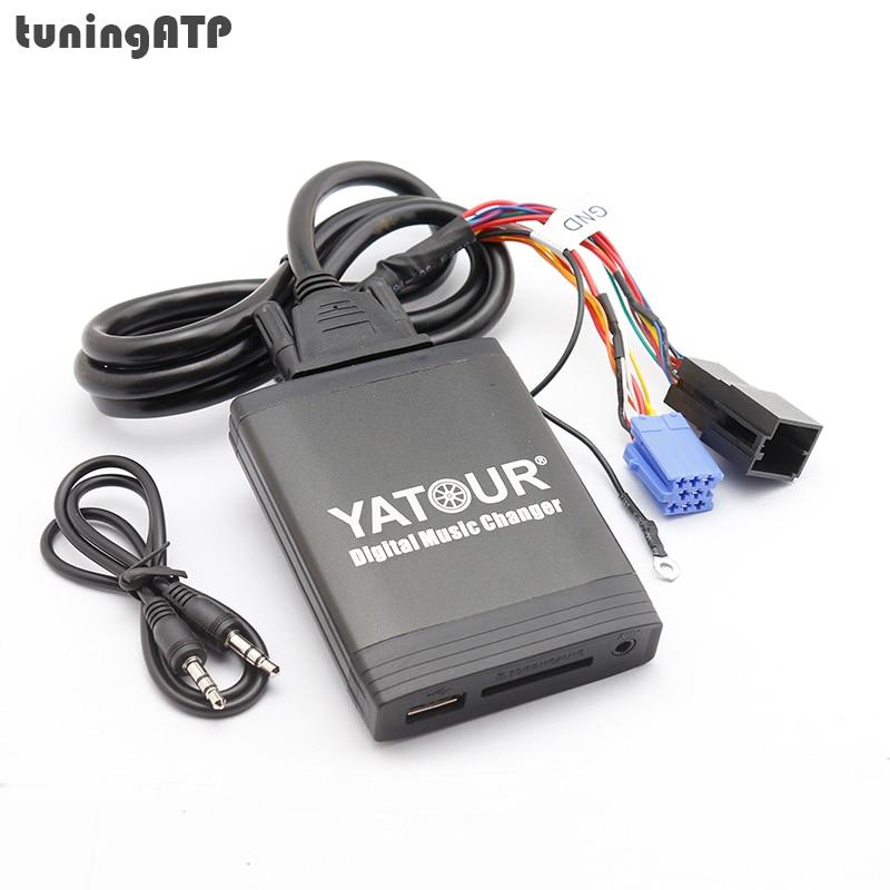 цена на YATOUR Digital Music Changer USB SD AUX MP3 Adapter for VW Radio Alpha 5 Beta 5 Gamma 5 Rhapsody Beetle Gamma CD