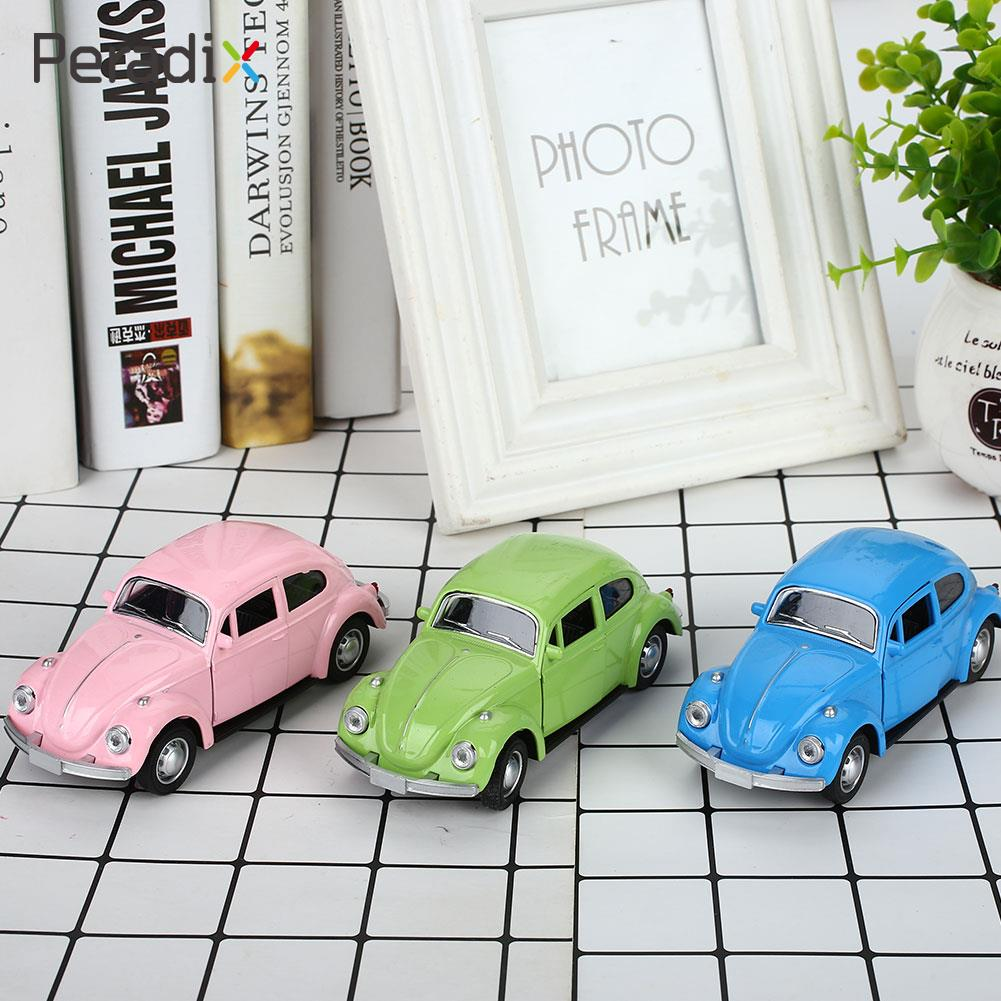 Beetle Model Car Vintage Beetle Diecast Car Kids Room Collection Multicolor Cultivate Interest Decor Beetle Car Toy