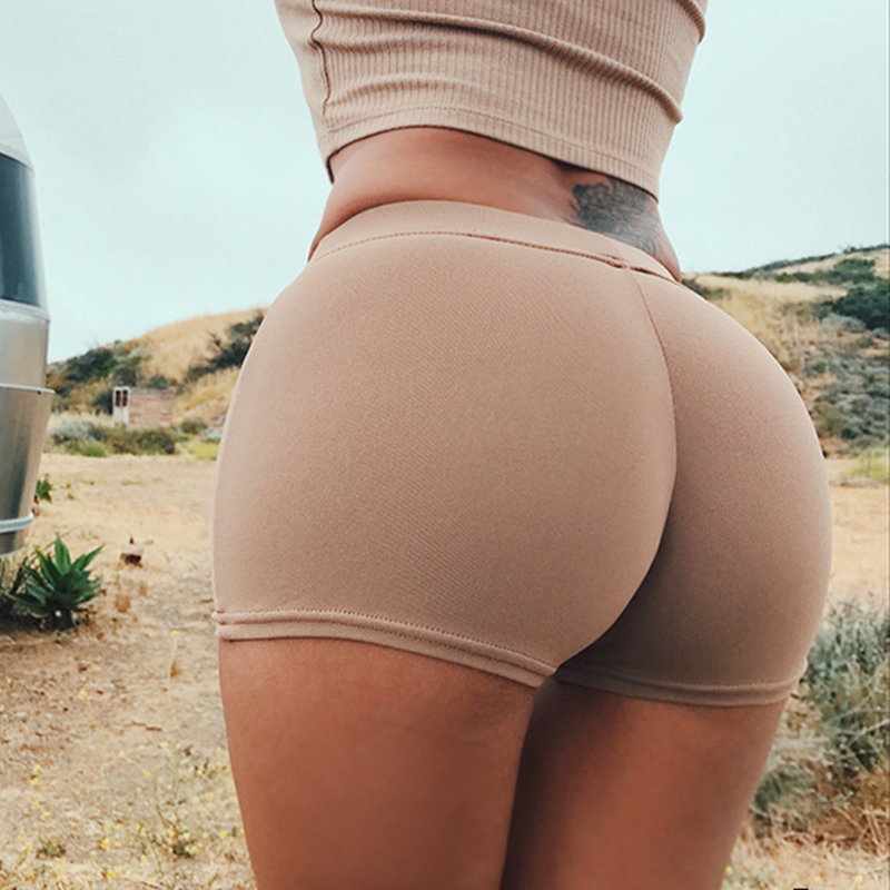 Summer Sexy Shorts Tight Stretch Fitness Sports Wear Skinny Short Pants Breathable Female Push Up Gym Clothing(China)