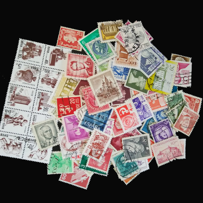100 Pieces / lot Used Off Paper Vintage Postage Stamps Between1960 And 2000 For Collection used 100