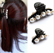 Pretty New Fashion Pearl Crystal Hairpin Rhinestone Hair Barrette Clip Women Hair Accessory Christmas Gift crystal rhinestone butterfly barrette gentle hair clip hairpin gift fashion women girls