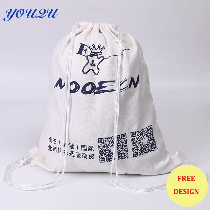 Canvas Drawstring Bag   Cotton Drawstring Bag 8OZ Canvas Drawstring Bag Low Price Escrow Accept