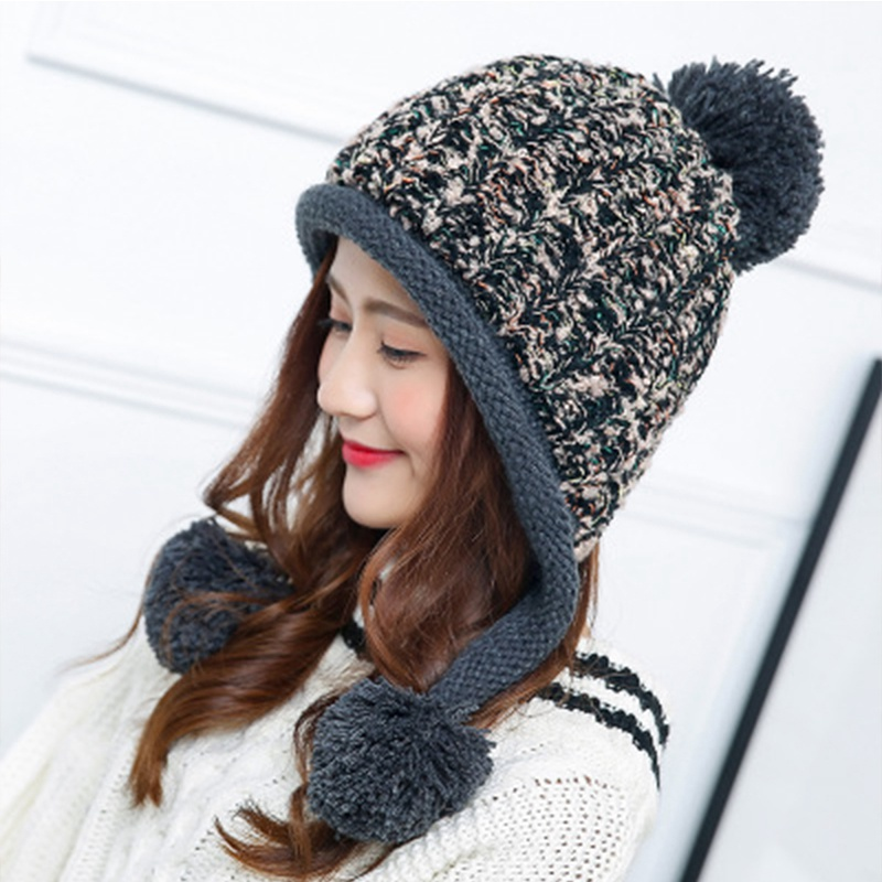 winter knit hat 100% genuine mink fur hats to protect the ears from cold natural fur hats cap hat elastic thick women foreign trade explosion models in europe and america in winter knit hat fashion warm mink mink hat lady ear cap dhy 36