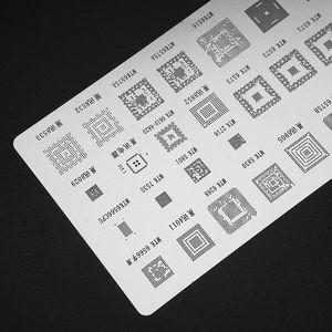 Image 5 - High Quality 3pcs universal BGA Stencils for MTK Samsung HTC Huawei Android Directly Heated BGA Reballing Stencils Kit