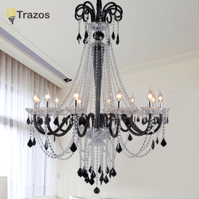 Modern Crystal Chandelier lighting Black/Red Crystal Chandeliers Large Chandelier lighting Bedroom living room lights lighting free shipping smoky grey fashion of luxury large crystal chandelier light living room lights modern crystal chandelier lighting