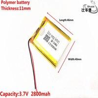 2019 Litros de início de energia da bateria 3.7 V bateria de lítio baterias de polímero de 114046 2800 mAh farol navegador GPS geral|Baterias digitais| |  -