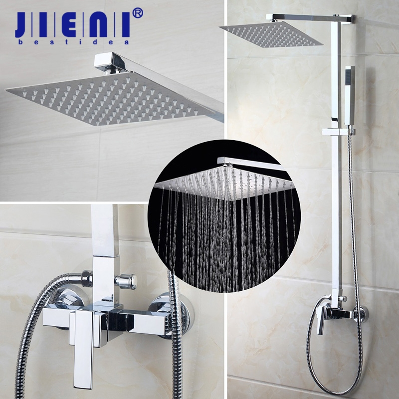 US Bathroom Shower Faucet Wall Mounted Bath Shower Mixer Tap 52004 torneira do chuveiro With Hand Shower Rain Shower Faucet gappo classic chrome bathroom shower faucet bath faucet mixer tap with hand shower head set wall mounted g3260