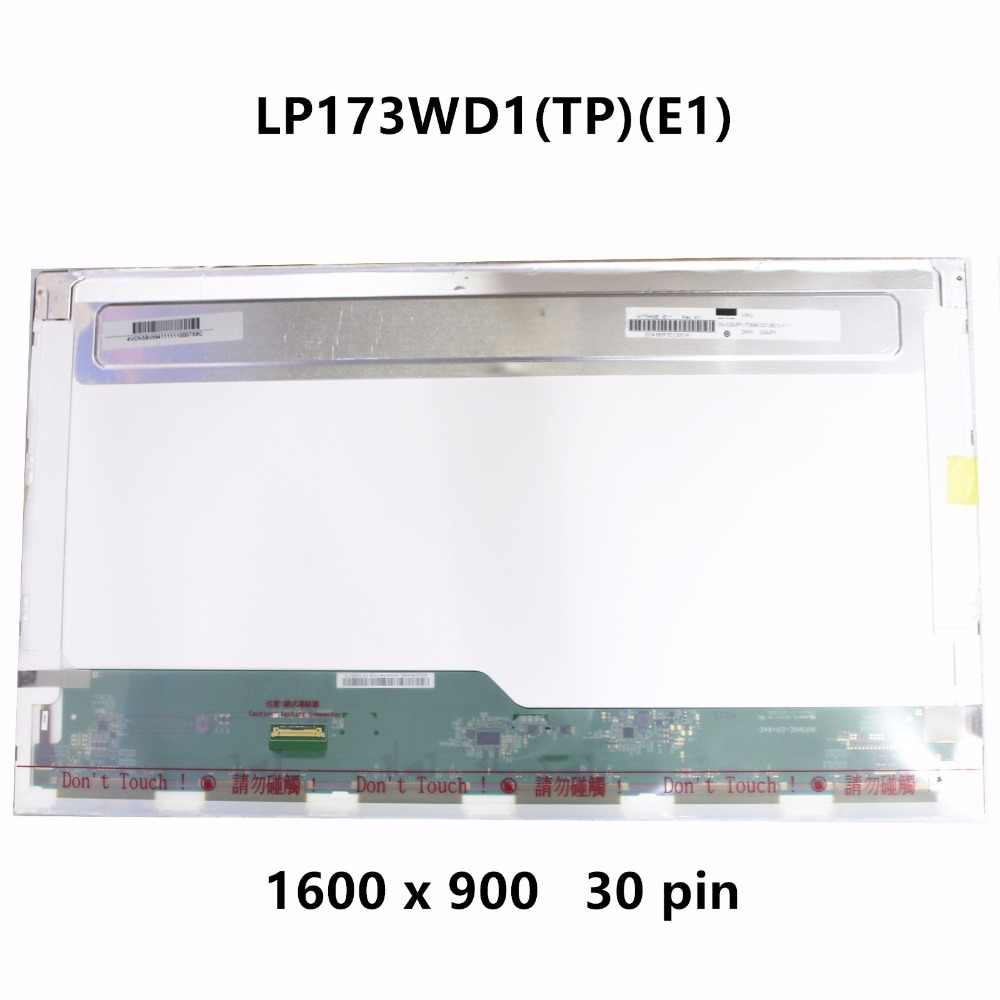 New 17.3'' LP173WD1 TPA1 B173RTN01.1 LP173WD1 TPE1 N173FGE-E23 B173RTN01.3 B173RTN01 30PIN For Packard Bell N15Q4 ENLG81BA-C0YX цена