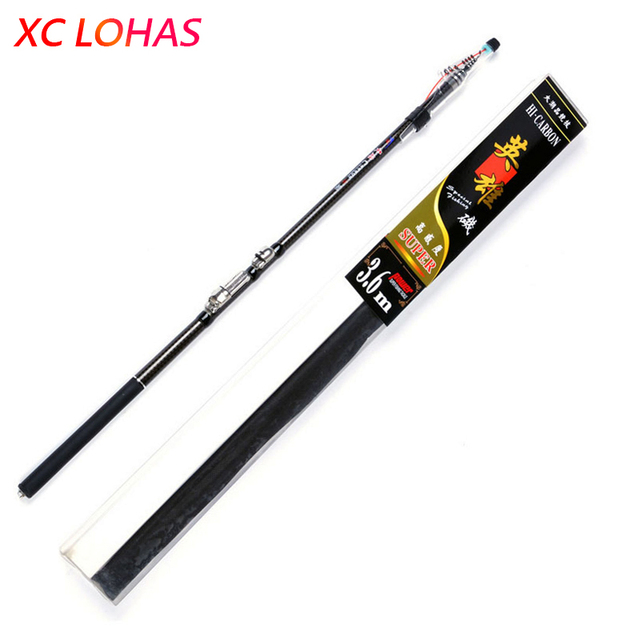 Exclusive Quality 30T Carbon Fiber Rock Fishing Rod Ultralight Telescopic Fishing Pole 2.7/3.6/4.5/5.4M Fishing Tackle