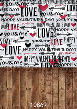 SHENGYONGBAO  Art Cloth Custom Photography Backdrops Prop Valentines day Theme Background 10869