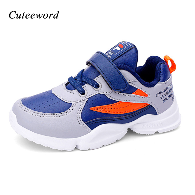Children sneakers boys shoes autumn non slip comfortable kids leather casual shoes for boys girls school sports running shoes in Sneakers from Mother Kids
