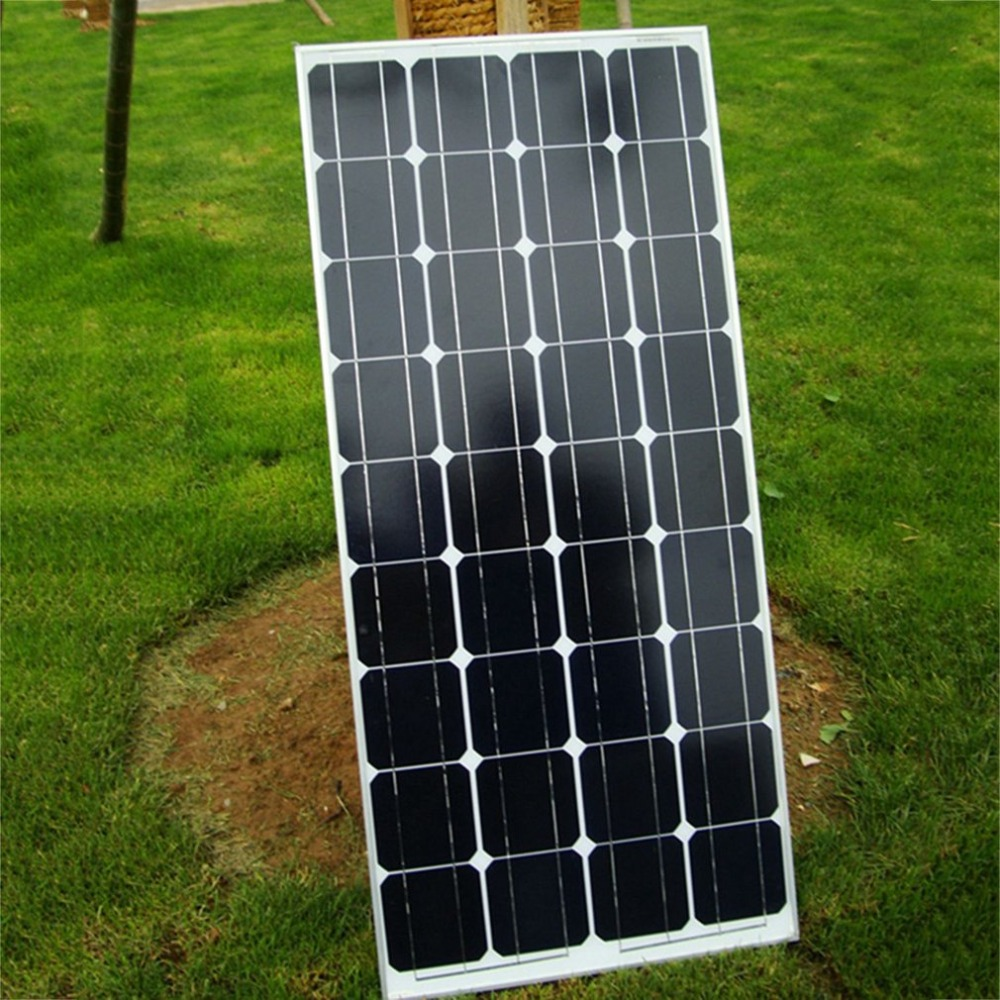 100W High Power Monocrystalline Silicon Solar Panel Board Home Boat Caravan Use Solar Energy Power Battery Board