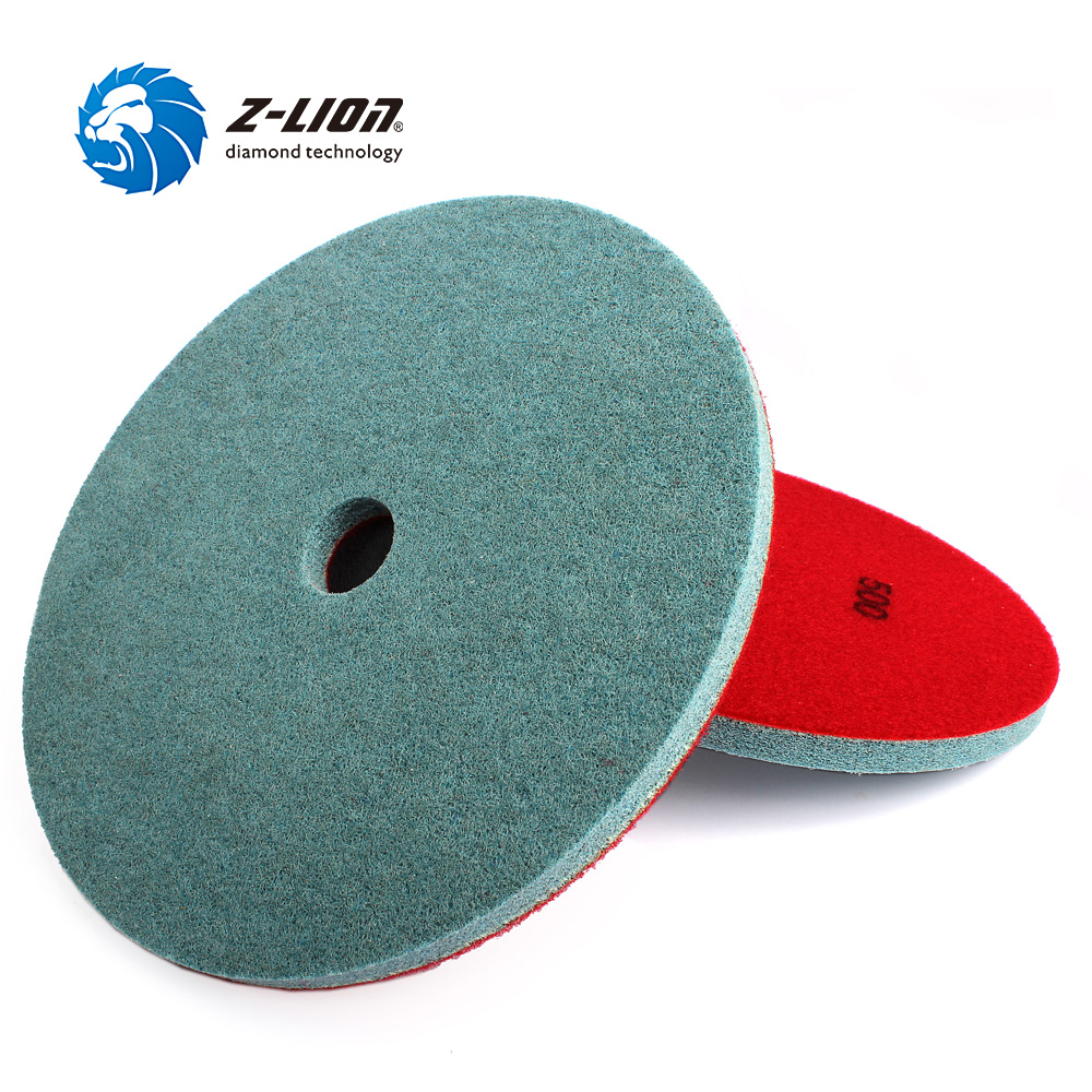 Z-LION Diamond Sponge Polishing Pad 10 Inch 250mm Nylon Fiber Wet Diamond Polish Wheel For Marble Stone Clean Buffing Disc