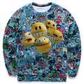 New Fashion Fall Top Sweatshirt for Men/Women 3D Print Cartoon Emoji Novelty Pullover Casual Hoodie Crewneck Sweatshirts Tops