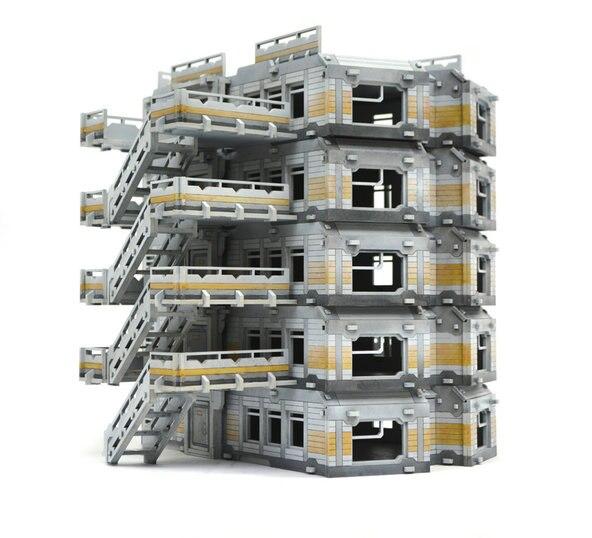 Bricolage modèle de maison de poupée Miniature scène en bois japonais états en guerre Dense bâtiment résidentiel 28 mm Ratio 1:56 résidence