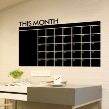 1PCS Monthly Chalkboard Chalk Board Blackboard Removable Wall Sticker DIY Month Plan Calendar Memo Stickers 60cm X 92cm