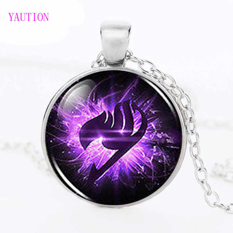 YAUTION Anime Fairy Tail Guild Marks Viola Ala Ciondolo Steampunk Collana dr che 1 pz/lotto alice in wonderland gioielli