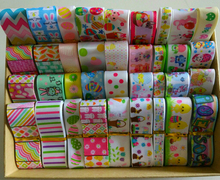 New Mix Ribbon Easter day ribbon mixed Style/size randomly 12y/lot (1y/pc) hairbow ribbon(China)