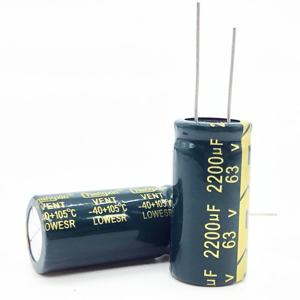 2pcs/lot 63V 2200UF 18*35 High Frequency Low Impedance Aluminum Electrolytic Capacitor 2200uf 63V 20%
