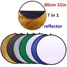 """Cy 32 """"80 cm 7 en 1 Moda tan fácil asidero Reflector Ligero Plegable Fotografía Portable Ronda de Estudio De Fotos del Disco"""