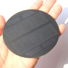 30PCS Monocrystalline Solar Cell PET Round Solar Panel For 3.7V Battery Charger Light  Diameter 91MM 0.85W 5.5V Free Shipping