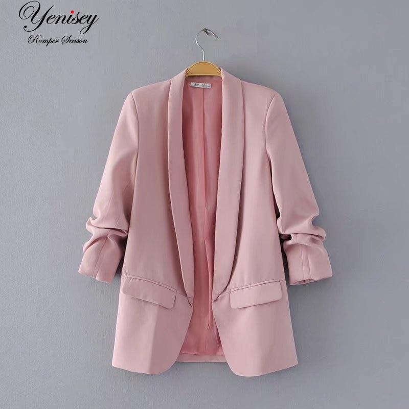 Jacket women elegant 5 color outerwear pocket office casual fashion jacket Innrech Market.com