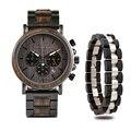 BOBO BIRD деревянные часы мужские часы браслет набор хронограф военный в деревянной коробке relogio masculino OEM Прямая поставка
