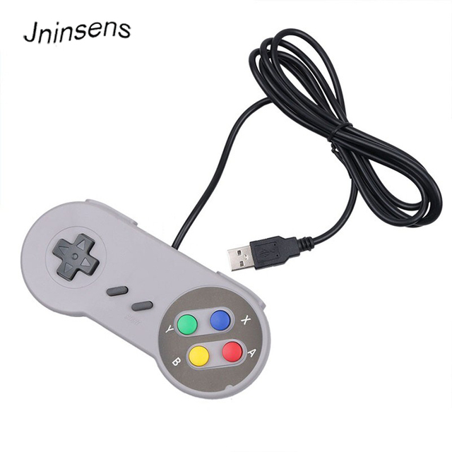 New Super Classic Wired USB Game Controller Gamepad joystick for PC Laptop Computer for Windows for SNES Game Control