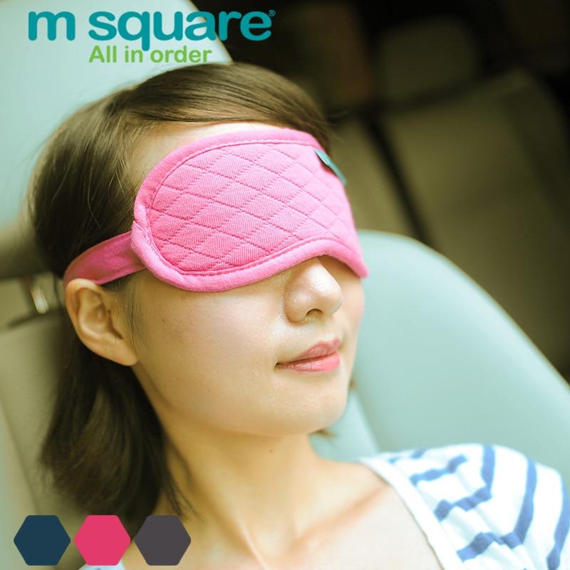 M Kwadratowe akcesoria podróżne do spania Eye Mask Cotton Sleep - Akcesoria podróżne - Zdjęcie 4