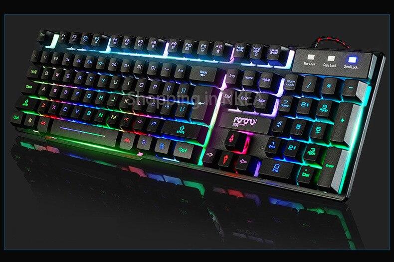 Computer Gaming keyboard Light Up Keyboard for DOTA 2 LOL