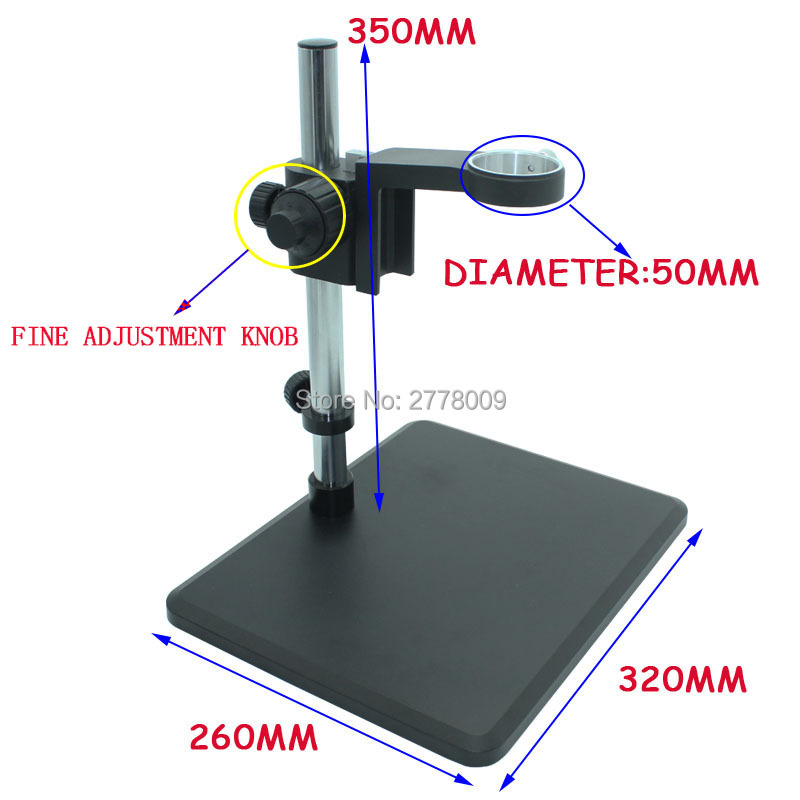 Industrial Microscope Camera Lens Ring Holder 50mm Trimmer Knob Standard Size Maintenance Platform Laboratory Applications bullet camera tube camera headset holder with varied size in diameter