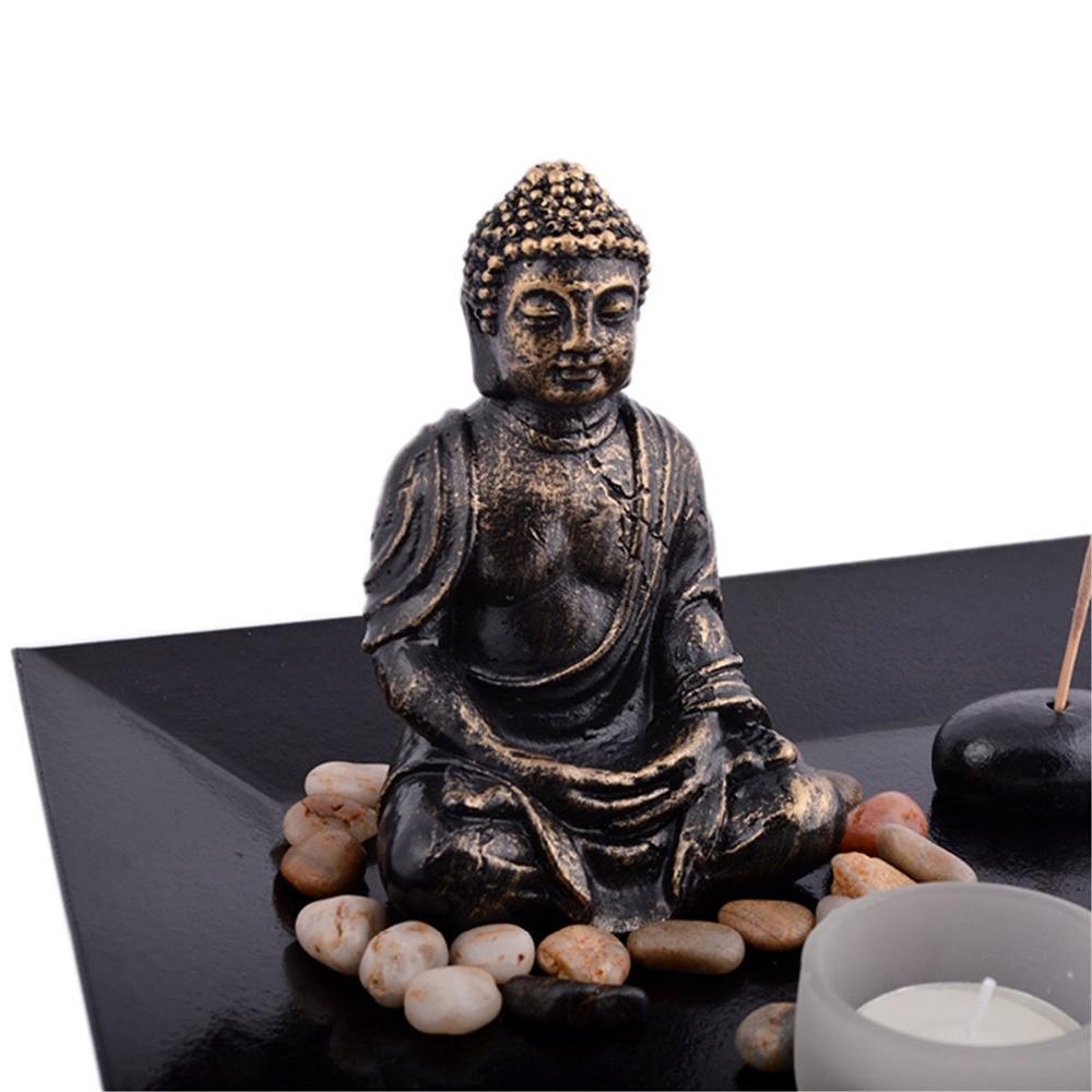 Feng Shui ZEN Garden Buddha držalo za aromatiziranje svetilke - Dekor za dom - Fotografija 3