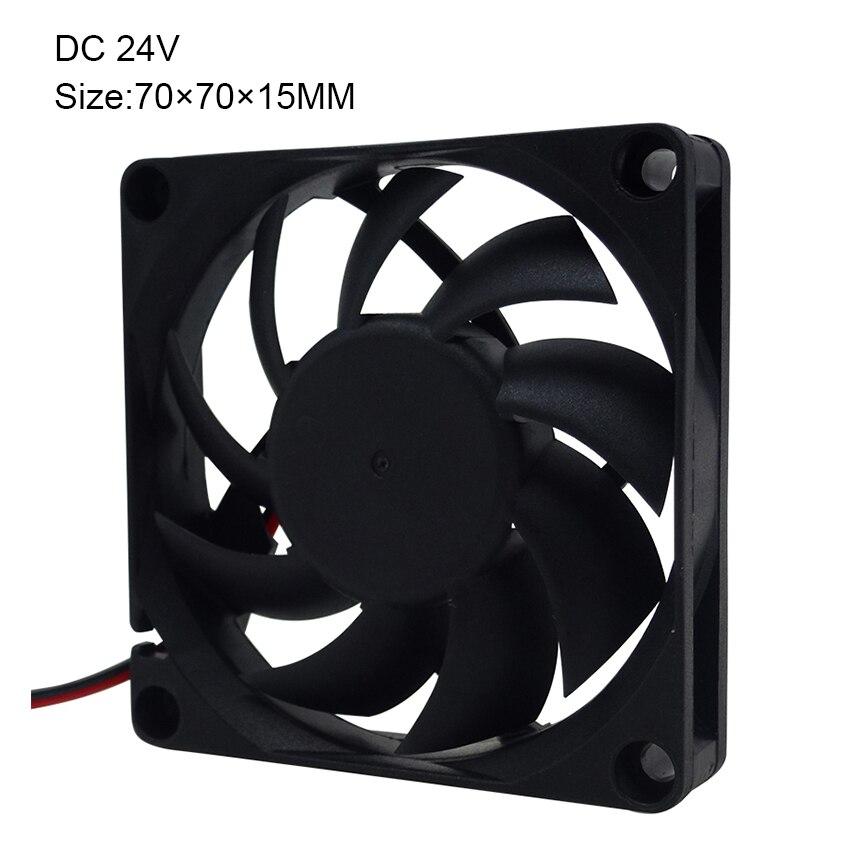 Enokay Brushless 70x70x15mm Hydraulic Bearing 2Pin  7cm 12V 24V DC Cooling Fan