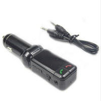 LCD Bluetooth Charger With Handfree MP3 Player FM Radio Adapter Transmitter USB Charger For IPhone Samsung