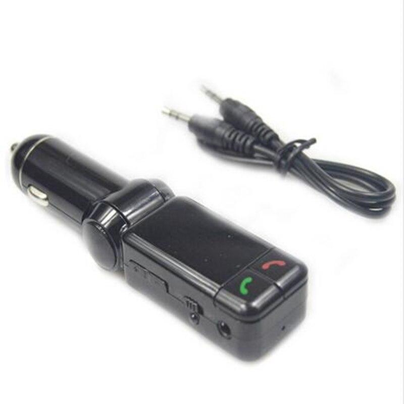 LCD Cargador de Bluetooth con manos libres Reproductor de MP3/FM Radio Transmisor Adaptador de Cargador USB Para el iphone 5 5S 6 6 S