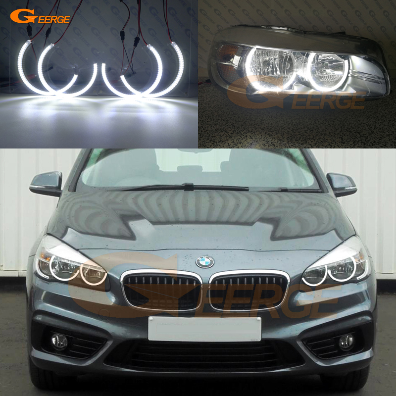 For BMW 2 SERIES F45 F46 2014-2018 HALOGEN HEADLIGHT Excellent Ultra bright illumination smd led Angel Eyes kit halo ring