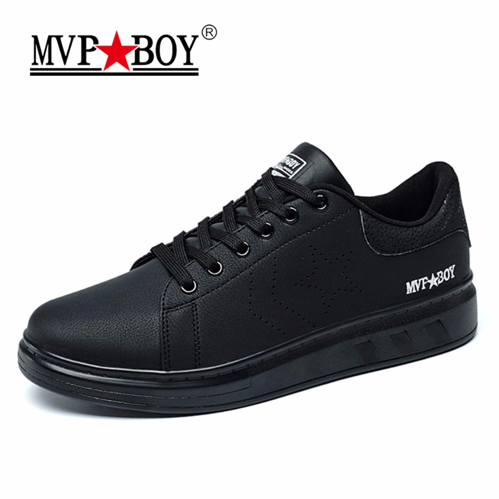 MVP BOY Brand Men Casual Shoes 2017 New Arrival Autumn Lace-Up Solid Shoes Men Leather Trend Fashion Spring Low Heel Shoes Men chilenxas new fashion spring autumn leather men casual shoes breathable lightweight comfortable lace up solid waterproof 2017