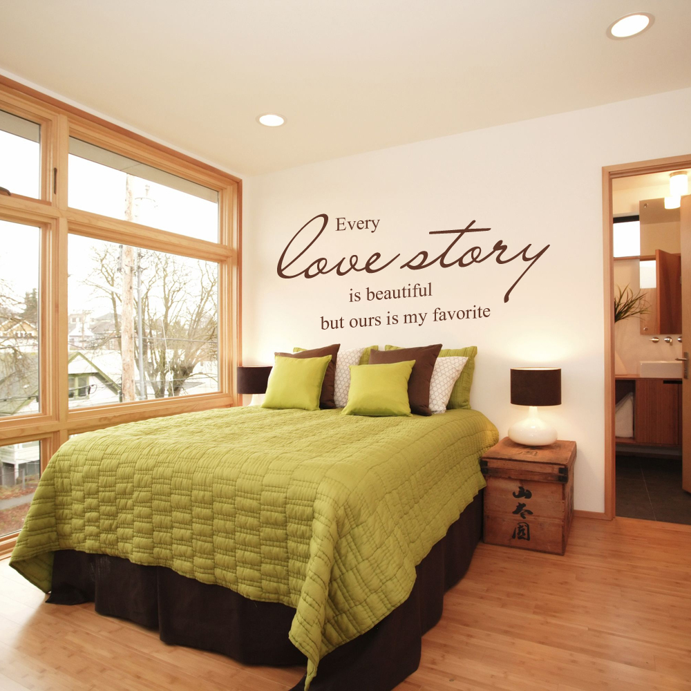 Every Love Story is Beautiful But ours is My Favorite Wall Decal ...