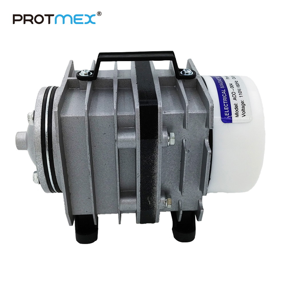 Free Shipping 60L/min 55W Electromagnetic Air Compressor Aquarium Air Pump Aquarium Oxygen 2 5w aquarium air pump grey