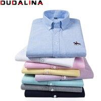 Dudalina Big Size Cotton Brand Shirt Men Long Sleeve Spring Mens Casual Shirts Oxford Dress Shirt