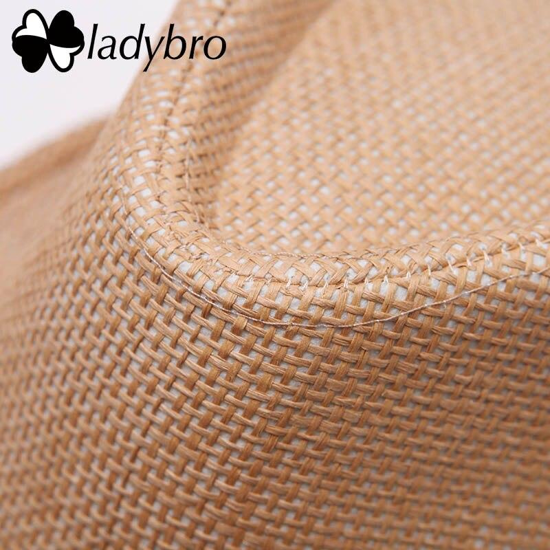 Ladybro 3pcs Sommar Kvinnor Hatt För Män Hat Lady Strand Keps Sol - Kläder tillbehör - Foto 3