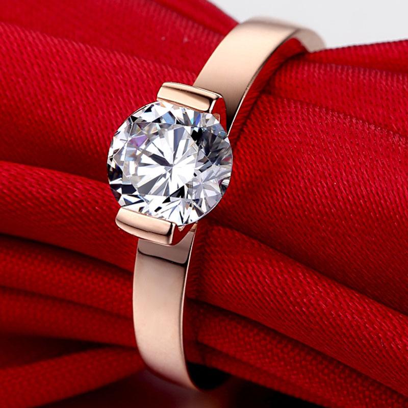THREEMAN Топ Бренд Стиль Твердые 14KT розовое золото 1CT взаимодействие синтетических алмазов кольцо 585 Золото женское кольцо пасьянс день рождения