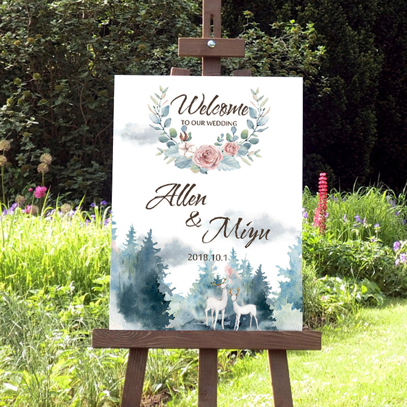 personalized canvas birthday party decorations custom decoration welcome board wedding signs