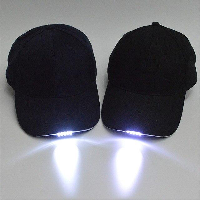 Neue Unisex LED Baseball Kappe Im Freien 5 LED Licht Hut Sport ...