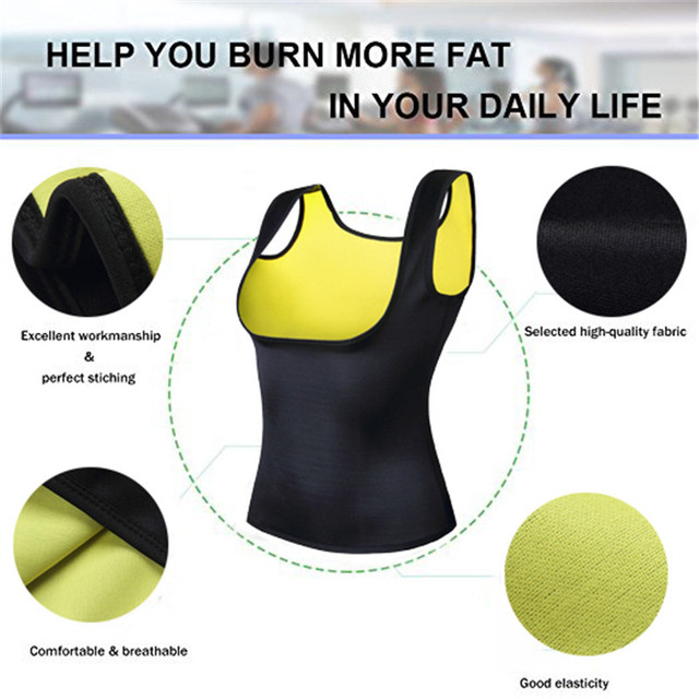 Women Thermo Sweat Neoprene Body Shaper Slimming Vest Trainer Cincher Slimming Wraps Product Weight Loss Slimming Belt 4