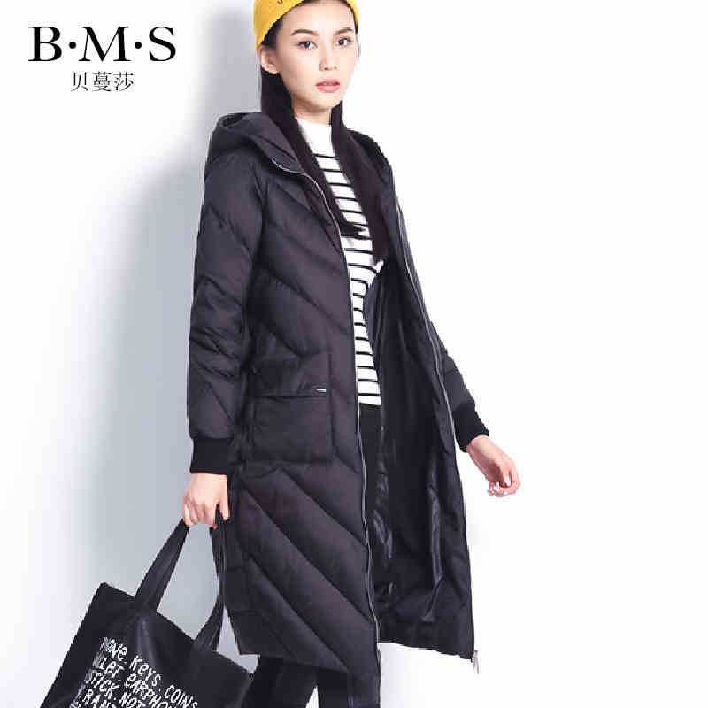 2016 new hot winter Thicken Warm woman Down jacket Coat Parkas Outerwear Hooded Luxury Brands long plus size XL Slim black 2016 new hot winter thicken warm woman down jacket coat parkas outerwear luxury pu leather splice woolen long plus size xl