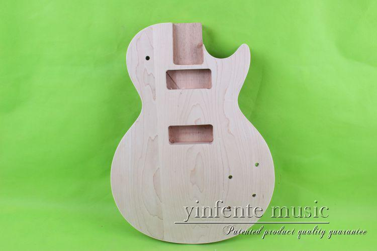 P90 LP Unfinished electric guitar body mahogany made maple maple top wholesale g lp custom electric guitar mahogany body maple neck in natural wooden 100807