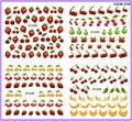 4 PACKS / porción cubierta completa de plátano fruta fresa cereza tatúa la etiqueta engomada etiqueta del agua del arte C036-039